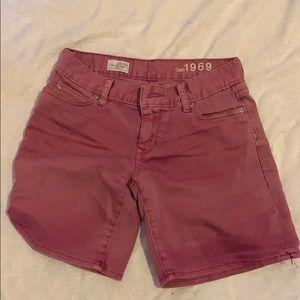 Pink boyfriend shorts